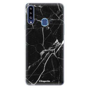 Odolné silikonové pouzdro iSaprio - Black Marble 18 na mobil Samsung Galaxy A20s