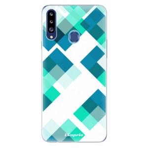 Odolné silikonové pouzdro iSaprio - Abstract Squares 11 na mobil Samsung Galaxy A20s