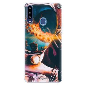 Odolné silikonové pouzdro iSaprio - Astronaut 01 na mobil Samsung Galaxy A20s