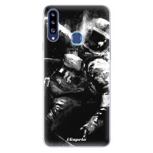 Odolné silikonové pouzdro iSaprio - Astronaut 02 na mobil Samsung Galaxy A20s