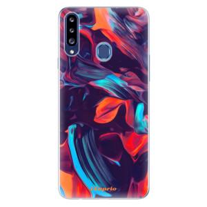 Odolné silikonové pouzdro iSaprio - Color Marble 19 na mobil Samsung Galaxy A20s