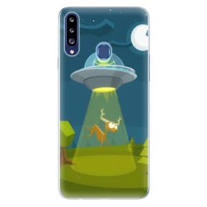 Odolné silikonové pouzdro iSaprio - Alien 01 na mobil Samsung Galaxy A20s