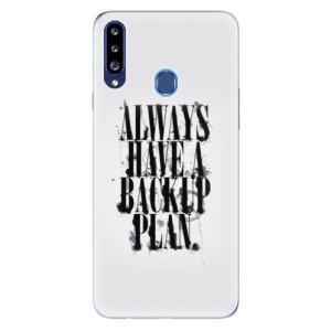 Odolné silikonové pouzdro iSaprio - Backup Plan na mobil Samsung Galaxy A20s