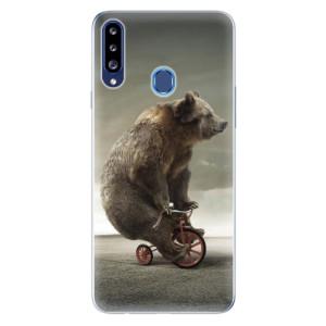 Odolné silikonové pouzdro iSaprio - Bear 01 na mobil Samsung Galaxy A20s