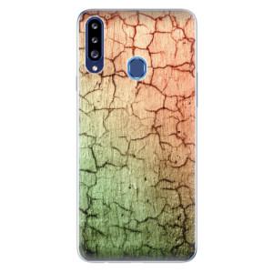 Odolné silikonové pouzdro iSaprio - Cracked Wall 01 na mobil Samsung Galaxy A20s