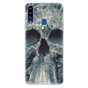 Odolné silikonové pouzdro iSaprio - Abstract Skull na mobil Samsung Galaxy A20s