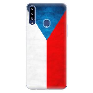 Odolné silikonové pouzdro iSaprio - Czech Flag na mobil Samsung Galaxy A20s