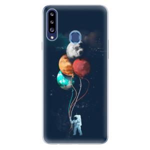 Odolné silikonové pouzdro iSaprio - Balloons 02 na mobil Samsung Galaxy A20s