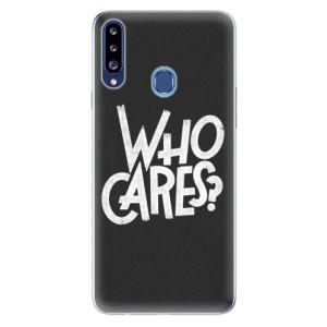 Odolné silikonové pouzdro iSaprio - Who Cares na mobil Samsung Galaxy A20s