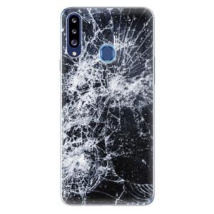 Odolné silikonové pouzdro iSaprio - Cracked na mobil Samsung Galaxy A20s