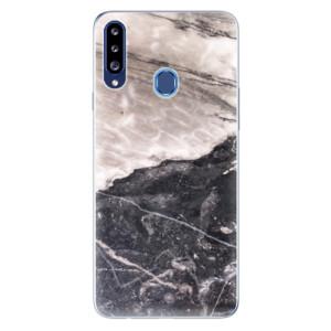 Odolné silikonové pouzdro iSaprio - BW Marble na mobil Samsung Galaxy A20s