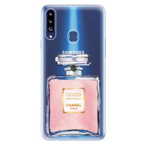 Odolné silikonové pouzdro iSaprio - Chanel Rose na mobil Samsung Galaxy A20s