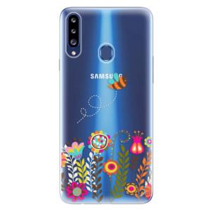 Odolné silikonové pouzdro iSaprio - Bee 01 na mobil Samsung Galaxy A20s