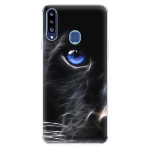 Odolné silikonové pouzdro iSaprio - Black Puma na mobil Samsung Galaxy A20s