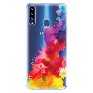 Odolné silikonové pouzdro iSaprio - Color Splash 01 na mobil Samsung Galaxy A20s