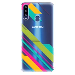 Odolné silikonové pouzdro iSaprio - Color Stripes 03 na mobil Samsung Galaxy A20s