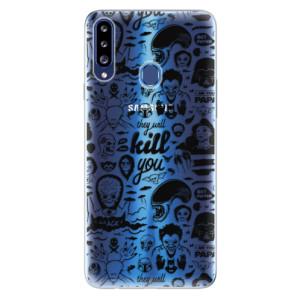 Odolné silikonové pouzdro iSaprio - Comics 01 - black na mobil Samsung Galaxy A20s