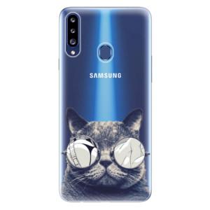 Odolné silikonové pouzdro iSaprio - Crazy Cat 01 na mobil Samsung Galaxy A20s