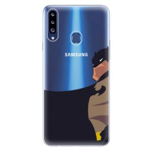 Odolné silikonové pouzdro iSaprio - BaT Comics na mobil Samsung Galaxy A20s
