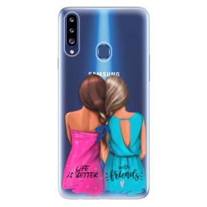 Odolné silikonové pouzdro iSaprio - Best Friends na mobil Samsung Galaxy A20s