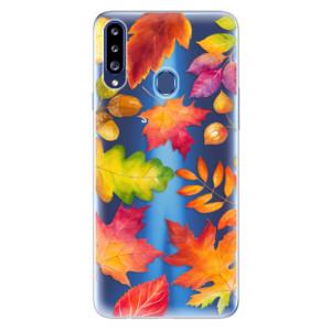 Odolné silikonové pouzdro iSaprio - Autumn Leaves 01 na mobil Samsung Galaxy A20s