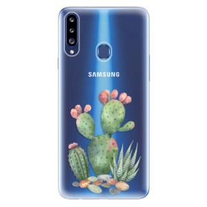 Odolné silikonové pouzdro iSaprio - Cacti 01 na mobil Samsung Galaxy A20s