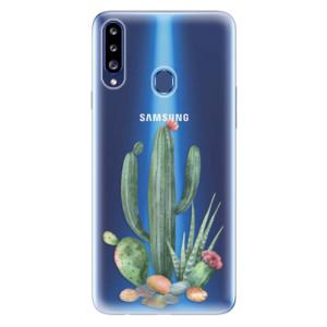 Odolné silikonové pouzdro iSaprio - Cacti 02 na mobil Samsung Galaxy A20s