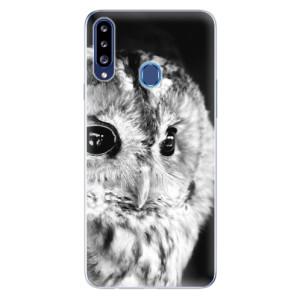 Odolné silikonové pouzdro iSaprio - BW Owl na mobil Samsung Galaxy A20s