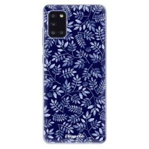Odolné silikonové pouzdro iSaprio - Blue Leaves 05 na mobil Samsung Galaxy A31