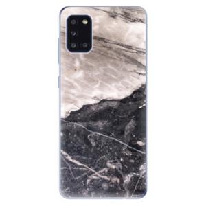 Odolné silikonové pouzdro iSaprio - BW Marble na mobil Samsung Galaxy A31