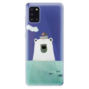 Odolné silikonové pouzdro iSaprio - Bear With Boat na mobil Samsung Galaxy A31