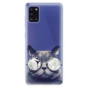 Odolné silikonové pouzdro iSaprio - Crazy Cat 01 na mobil Samsung Galaxy A31