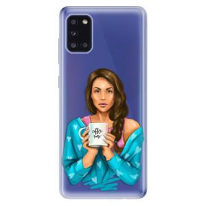 Odolné silikonové pouzdro iSaprio - Coffe Now - Brunette na mobil Samsung Galaxy A31