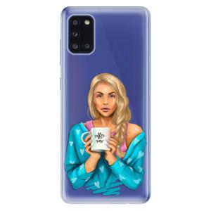 Odolné silikonové pouzdro iSaprio - Coffe Now - Blond na mobil Samsung Galaxy A31