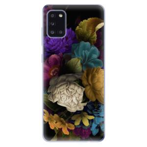 Odolné silikonové pouzdro iSaprio - Dark Flowers na mobil Samsung Galaxy A31