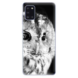 Odolné silikonové pouzdro iSaprio - BW Owl na mobil Samsung Galaxy A31