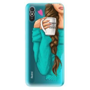 Odolné silikonové pouzdro iSaprio - My Coffe and Brunette Girl na mobil Xiaomi Redmi 9A