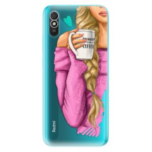 Odolné silikonové pouzdro iSaprio - My Coffe and Blond Girl na mobil Xiaomi Redmi 9A