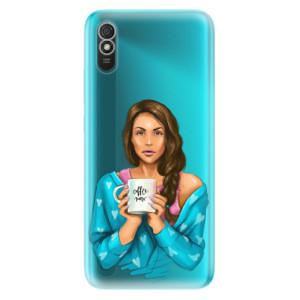 Odolné silikonové pouzdro iSaprio - Coffe Now - Brunette na mobil Xiaomi Redmi 9A