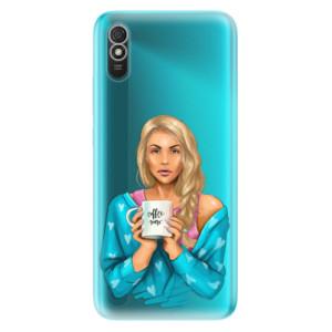 Odolné silikonové pouzdro iSaprio - Coffe Now - Blond na mobil Xiaomi Redmi 9A