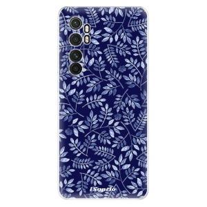 Odolné silikonové pouzdro iSaprio - Blue Leaves 05 na mobil Xiaomi Mi Note 10 Lite