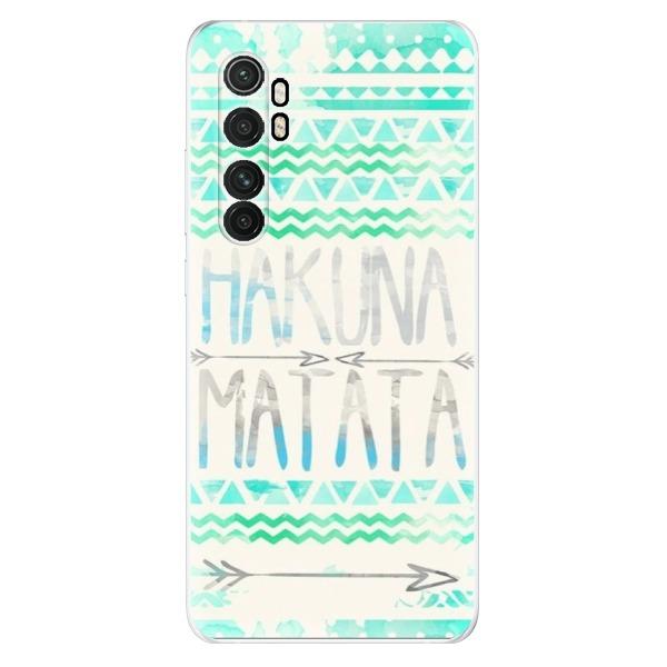 Odolné silikonové pouzdro iSaprio - Hakuna Matata Green - Xiaomi Mi Note 10 Lite