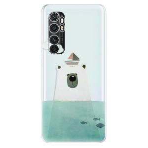 Odolné silikonové pouzdro iSaprio - Bear With Boat na mobil Xiaomi Mi Note 10 Lite