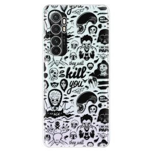 Odolné silikonové pouzdro iSaprio - Comics 01 - black na mobil Xiaomi Mi Note 10 Lite