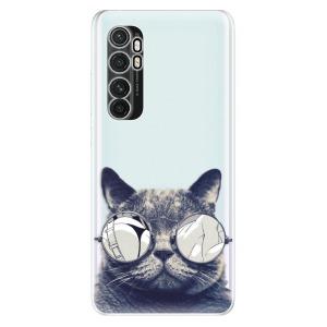 Odolné silikonové pouzdro iSaprio - Crazy Cat 01 na mobil Xiaomi Mi Note 10 Lite