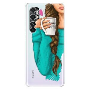 Odolné silikonové pouzdro iSaprio - My Coffe and Brunette Girl na mobil Xiaomi Mi Note 10 Lite