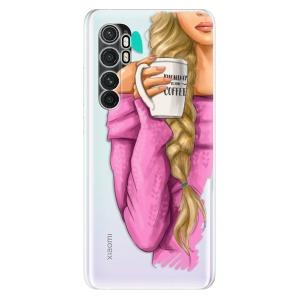 Odolné silikonové pouzdro iSaprio - My Coffe and Blond Girl na mobil Xiaomi Mi Note 10 Lite