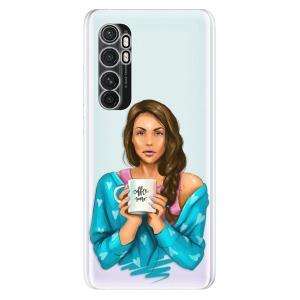 Odolné silikonové pouzdro iSaprio - Coffe Now - Brunette na mobil Xiaomi Mi Note 10 Lite