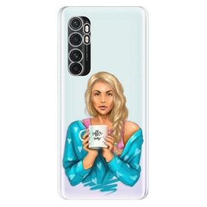Odolné silikonové pouzdro iSaprio - Coffe Now - Blond na mobil Xiaomi Mi Note 10 Lite