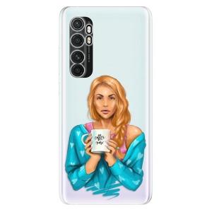 Odolné silikonové pouzdro iSaprio - Coffe Now - Redhead na mobil Xiaomi Mi Note 10 Lite